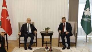 Temel Karamollaoğlu ve Ahmet Davutoğlu