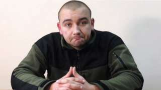 Sr Lt Andrei Drach of the Main Military Counterintelligence Directorate of the Ukrainian Security Service detained by the Russian Federal Security Service for violation of the Russian border in the Kerch Strait and questioned in Crimea