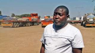 Truck driver Likando Mwiya