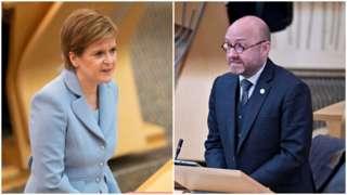 Nicola Sturgeon and Patrick Harvie