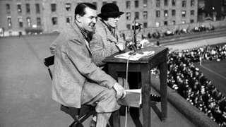 Marjorie Pollard broadcasting