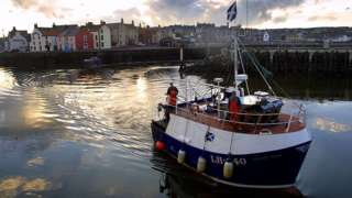Fishing boat in Eyemouth