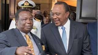 Francis Atwoli na rais Kenyatta