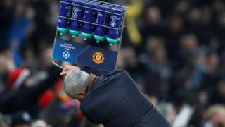 Jose Mourinho launches the water bottle crate