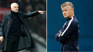 Jose Mourinho and Ole Gunnar Solkjaer