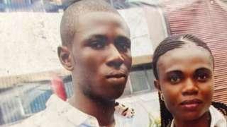 Old foto of Lawrence Chukwu and im wife Chizoba wey die die for Enugu state