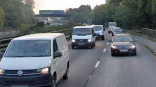 Traffic queuing on the A31 at Ringwood