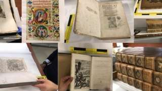 Recovered stolen books