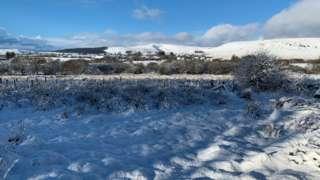 Snow on Preseli hills