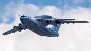 Archive photo of a Russian A-50 airborne early warning and control training aircraft