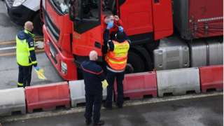 French firefighters administer Covid tests