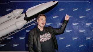 SpaceX owner and Tesla CEO Elon Musk poses on the red carpet of the Axel Springer Award 2020 on December 01, 2020 in Berlin, Germany.