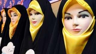 ایران میں حجاب پہنے مجسمے