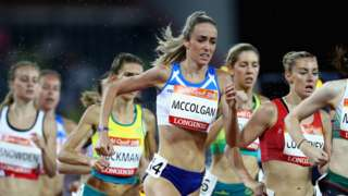 Eilish McColgan in action at the 2018 Commonwealth Games