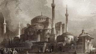1800'lerden bir Ayasofya gravürü