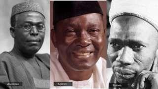 Obafemi Awolowo, Unamdi Azikwe ati tafawa Balewa