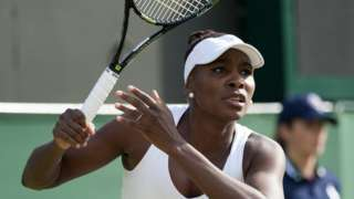 Venus Williams in action during the Wimbledon Championships in London, England, 3 July 2015