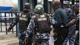 Police gbab Yoruba nation protester for Ojota, Lagos