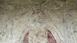 12th/13th Century wall mural, St Leonard's