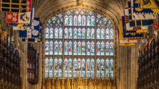 Inside St George's chapel, Windsor