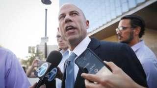 Lawyer Michael Avenatti, talking to reporters