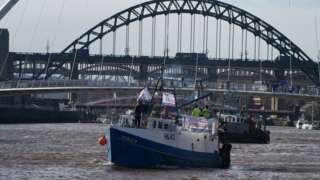 Brexit flotilla on the Tyne