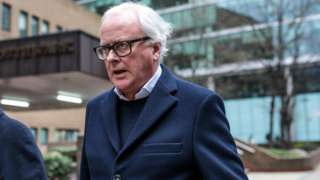 Former chief executive of Barclays John Varley leaves Southwark Crown Court on January 14, 2019 in London, England. Four former Barclays executives appear charged with conspiracy to commit fraud and 'unlawful financial assistance' relating to billions of pounds raised from Qatar in 2008.
