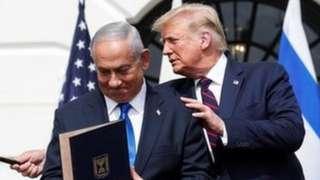 Netanyahu y Trump.