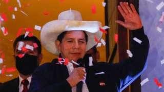 Pedro Castillo tras ser proclamado presidente electo