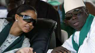 Yahya Jammeh et son épouse Zineb
