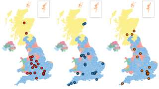promo image showing where party leaders have been campaigning