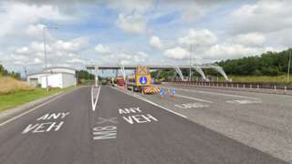 Toll plaza on the M8 motorway