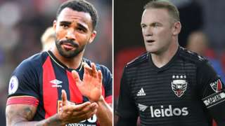Callum Wilson and Wayne Rooney
