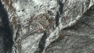 This DigitalGlobe satellite image of the Punggye-ri Nuclear Test Facility in North Korea was taken February 11, 2013.
