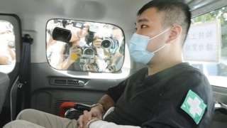 Tong Ying-kit 23-year-old man appears at West Kowloon Court on 06 Jul, 2020