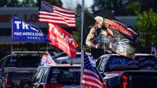 Pro-Trump convoy in Georgia