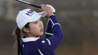 Yealimi Noh hits an approach shot at the Volunteers of America Championship