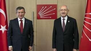 Gelecek Partisi Genel Başkanı Ahmet Davutoğlu ve CHP lideri Kemal Kılıçdaroğlu