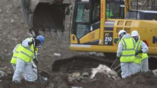 Officers searching landfill site at Milton
