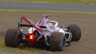 Sauber crash