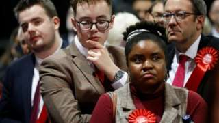 Labour Party supporters in Glasgow