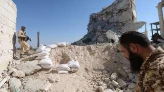 Rubble in Aleppo, Syria
