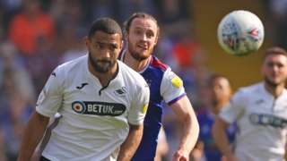 Cameron Carter Vickers chases the ball