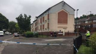 Police taped off St Ann's Well Road in Nottingham
