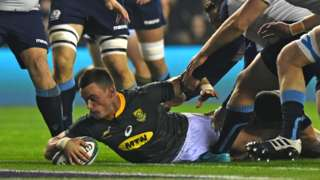 Jesse Kriel scored the opening try