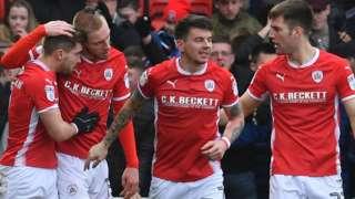 Barnsley celebrate goal