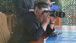 North Korean leader Kim Jong-un observes missile test, 24 August 2019