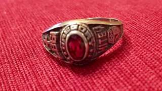 The ring showing the year it commemorates