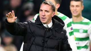 Celtic boss Brendan Rodgers (centre)