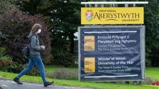Myfyriwr ym Mhrifysgol Aberystwyth